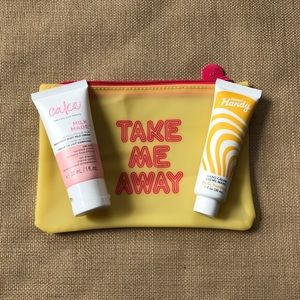 👋🏻 2 Small Hand Lotions & Cosmetic Bag